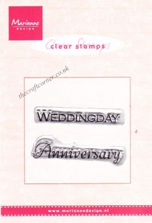 Wedding Day Anniversary 2 Clear Rubber Stamps by Marianne Design
